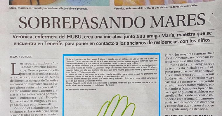 La emotiva carta de Iker a una persona mayor confinada